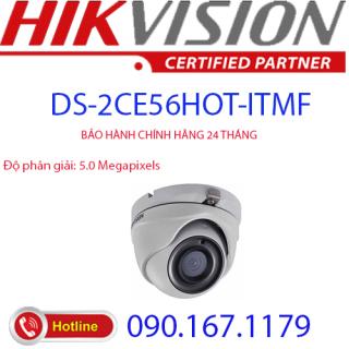 [HCM]Camera Dome 4 in 1 hồng ngoại 5.0 Megapixel HIKVISION DS-2CE56H0T-ITMF thumbnail