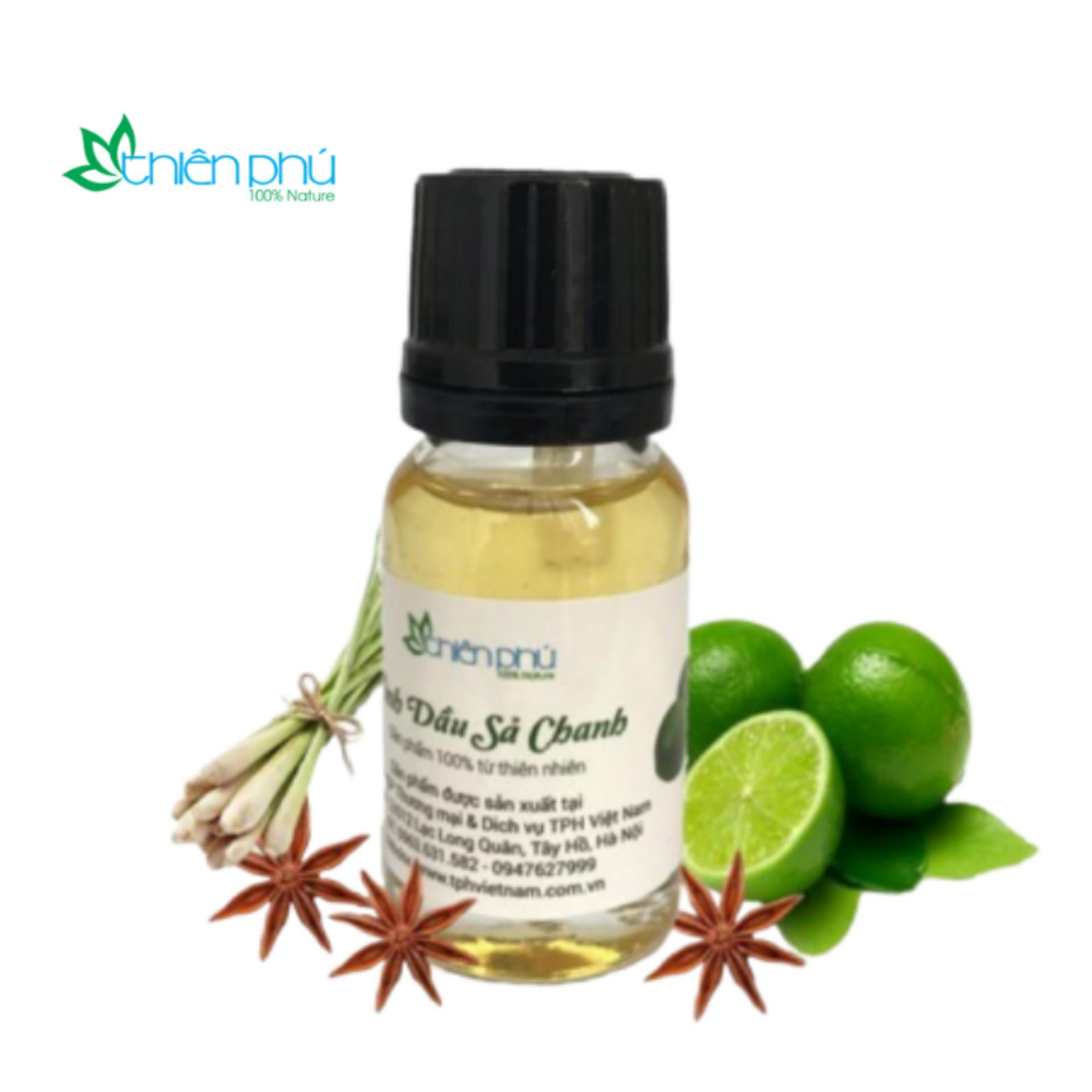 Tinh dầu sả chanh Thiên Phú 10ml- tinh dầu nguyên chất khử mùi,đuổi muỗi, đuổi côn trùng chính hãng