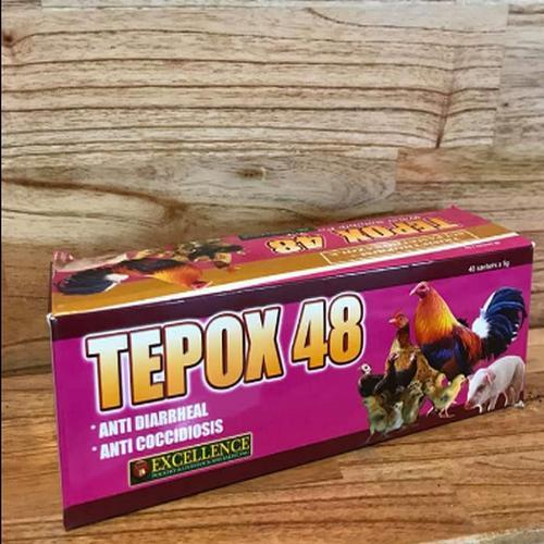 Combo 2 gói Thuốc úm gà con TEPOX 48 (1 gói)