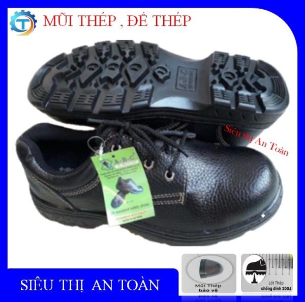 [  Sale Xả Kho ] Giày bảo hộ lao đông nam, giày nam bảo hộ, mũi thép, đê thep, chống dầu, chống đinh, chống trơn trượt - Phân phối chính hãng ABC