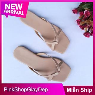 (Miễn ship) Dép nữ kiểu mới 2021 PinkShopGiayDep đế bệt quai dây xỏ ngón mã KB thumbnail