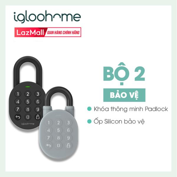 [COMBO 2 TRONG 1] Ổ Khóa Thông Minh Igloohome - Silicon bảo vệ - Padlock - Sử Dụng Bluetooth, Mã Pin, Tự Động Báo Qua App Điện Thoại  - Hàng Phân Phối Chính Hãng - IG003