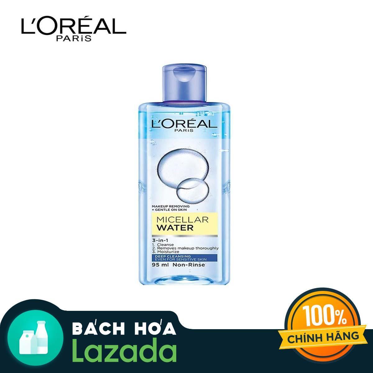 Nước Tẩy Trang LOreal Paris 3-in-1 Micellar Water (95ml) - Phù hợp với mọi loại da