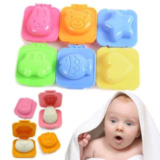 Bộ 6 chiếc khuôn ép cơm, làm bánh Bento hình thú dễ thương cho trẻ em, tăng sự thích thú trong khi ăn, chất liệu nhựa ABS cao cấp an toàn cho sức khỏe, dễ dàng vệ sinh sau khi dùng thumbnail