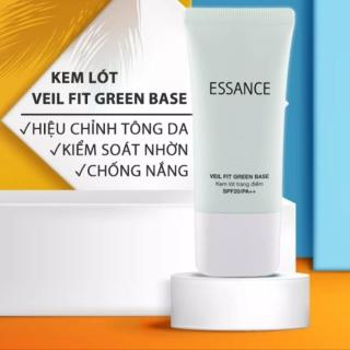 [Kiểm soát nhờn] Kem lót trang điểm dưỡng trắng hiệu chỉnh tông da siêu mịn Essance Veil Fit Green Base SPF20 PA++ 30 ml thumbnail