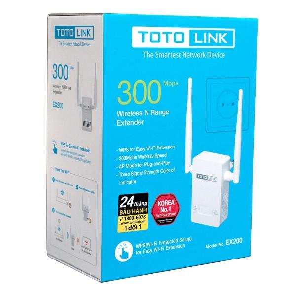 Bảng giá Bộ Mở Rộng Sóng Wifi Totolink EX200 Tốc Độ 300Mbps Phong Vũ