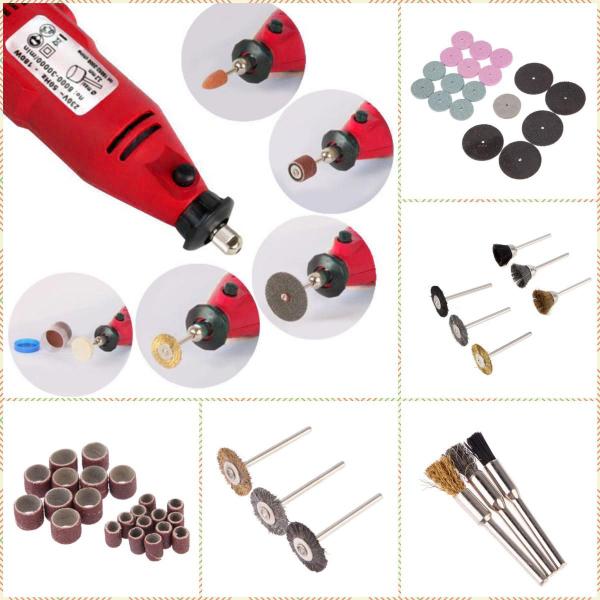 Máy khoan mài đa năng-Máy kèm bộ phụ kiện 105 món tiện dụng(trọn bộ khoan mài ACZ-6058)