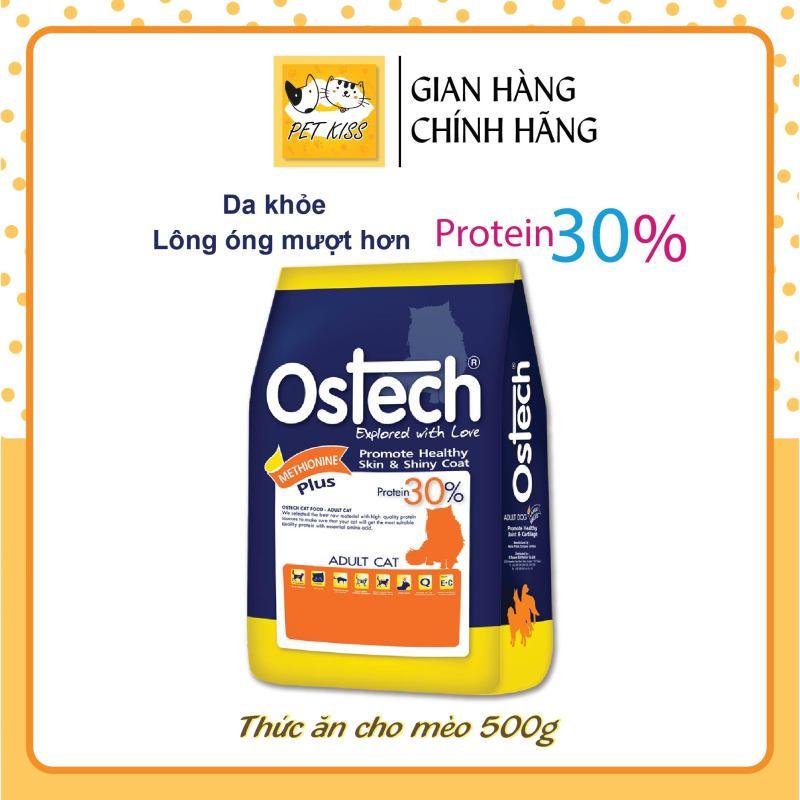 [HCM]Thức ăn hạt giảm hội chứng tiết niệu cho mèo Ostech Adult Cat Food Gói 500g