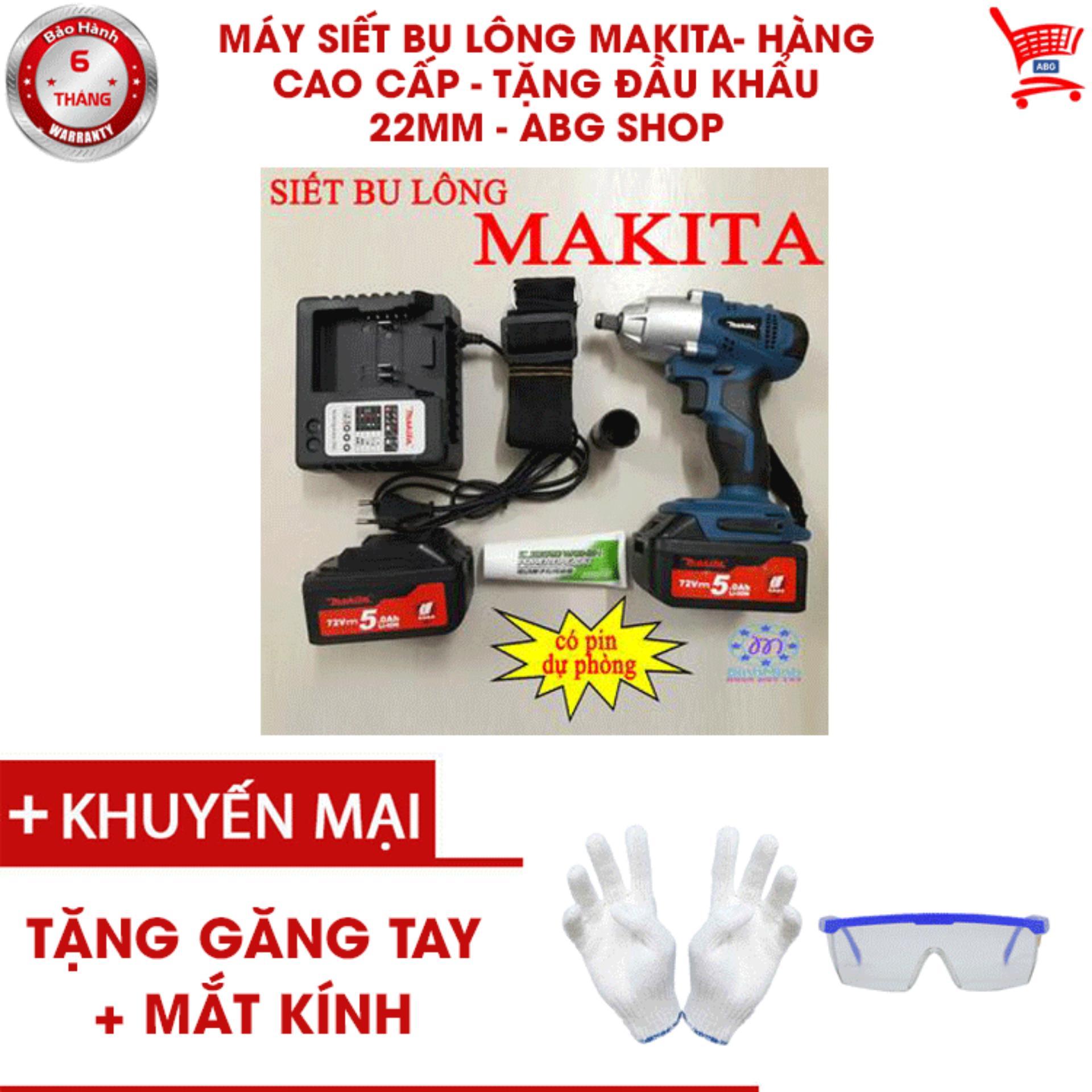 Máy siết bu lông Makita- Hàng Cao Cấp - Tặng đầu khẩu 22mm - ABG shop