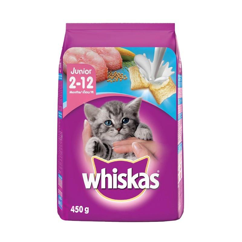 [450g] Hạt Whiskas Cho Mèo Con - Vị Cá Biển