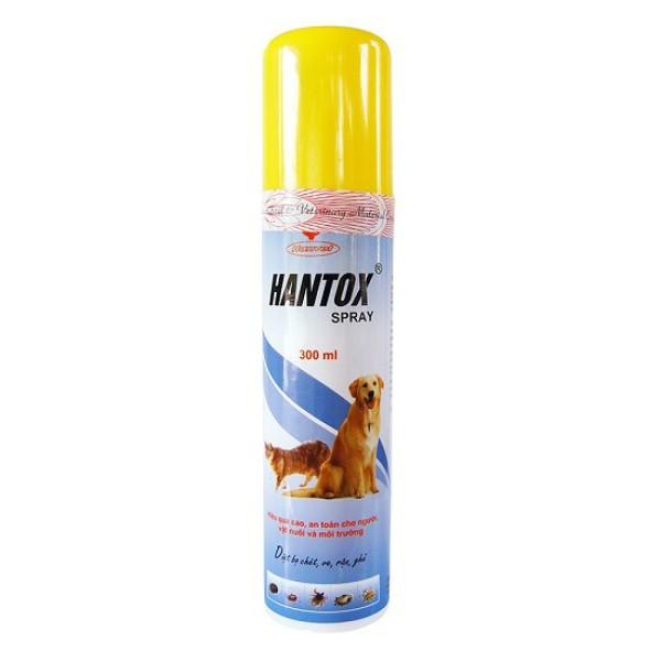 Xịt Hantox Spray diệt bọ chét ve chấy rận ghẻ chó mèo 300ml