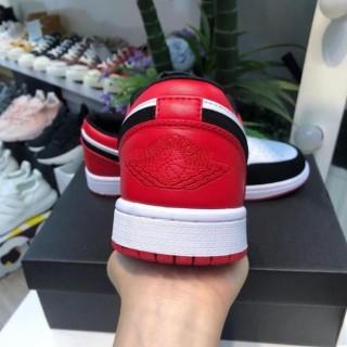 Freeship Giày Thể Thao Jordan 1 Low, JD1 đỏ đen cổ thấp nam nữ hàng cao cấp thumbnail