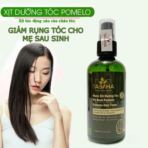 Xịt mọc tóc tinh dầu bưởi Pomelo Tabaha 120ml giảm rụng tóc sau sinh