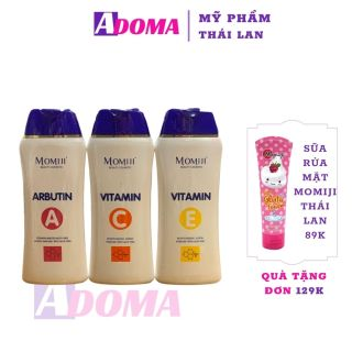 Sữa Dưỡng Thể Trắng Da ADOMA date 12 2021 Momiji Vitamin Body Lotion 180g- Kem Body Dưỡng Ẩm Tốt An Toàn thumbnail