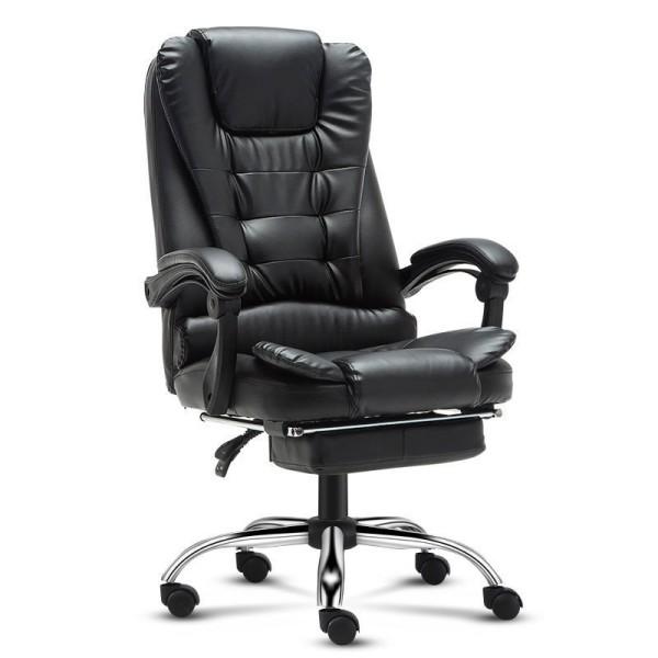 Ghế xoay văn phòng ,Ghế làm việc ,Ghế Giám Đốc Có Massage Lưng, Có Để Chân Da PU Cao Cấp – T148. giá rẻ