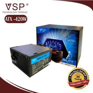 Bộ nguồn máy tính Atx có Led công suất thực 420w hàng cao cấp, Nguồn máy tính để bàn mẫu mới bán chạy thumbnail