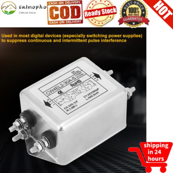 salmopho【lowest price】Bộ Lọc Nguồn Điện Một Pha CW4EL2-30A-S 115V/250V 50/60Hz