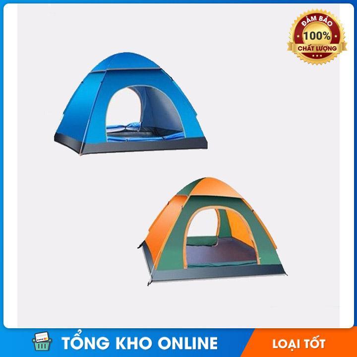 Lều Cắm Trại Chống Nước Tự Bung 2 đến 4 Người - Loại Cao Cấp Khuyến Mại Hot