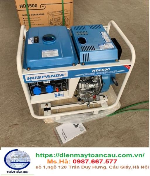 Máy phát điện chạy dầu Huspanda HD6500