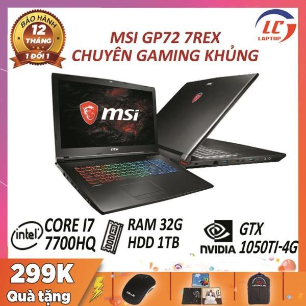 Bảng giá Laptop MSI GP72 7REX core i7-7700HQ - card rời Nvidia GTX 1050Ti- 4G, màn 17.3″ FullHD 120Hz, laptop game Phong Vũ