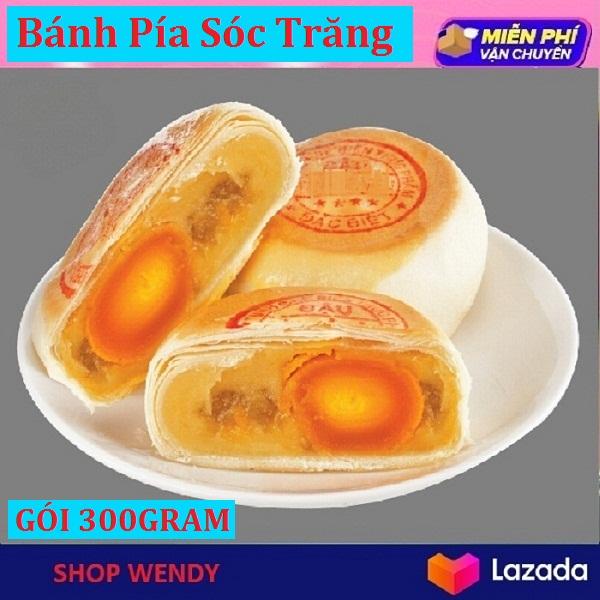 [Mua 10 Gói Tặng 1 Gói] Bánh Pía Đậu Xanh Sầu Riêng Có Trứng Muối - 300g (4 cái) - SHOP WENDY Ngon Tuyệt Vời Phù Hợp Làm Qùa Tặng, DATE Mới Mỗi Ngày