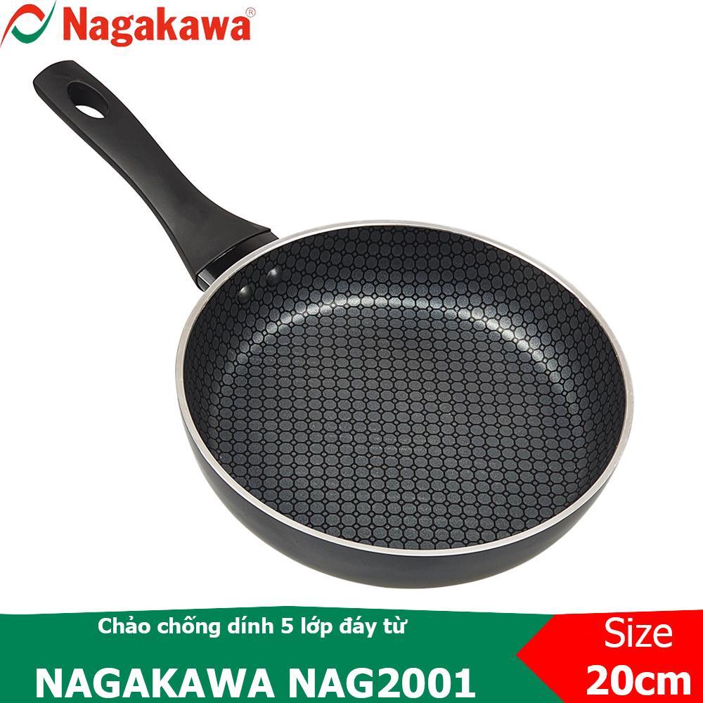 Chảo chống dính 5 lớp, đáy từ Nagakawa NAG2001 - NAG2201 - NAG2401 - NAG2601 - NAG2801 - NAG3001