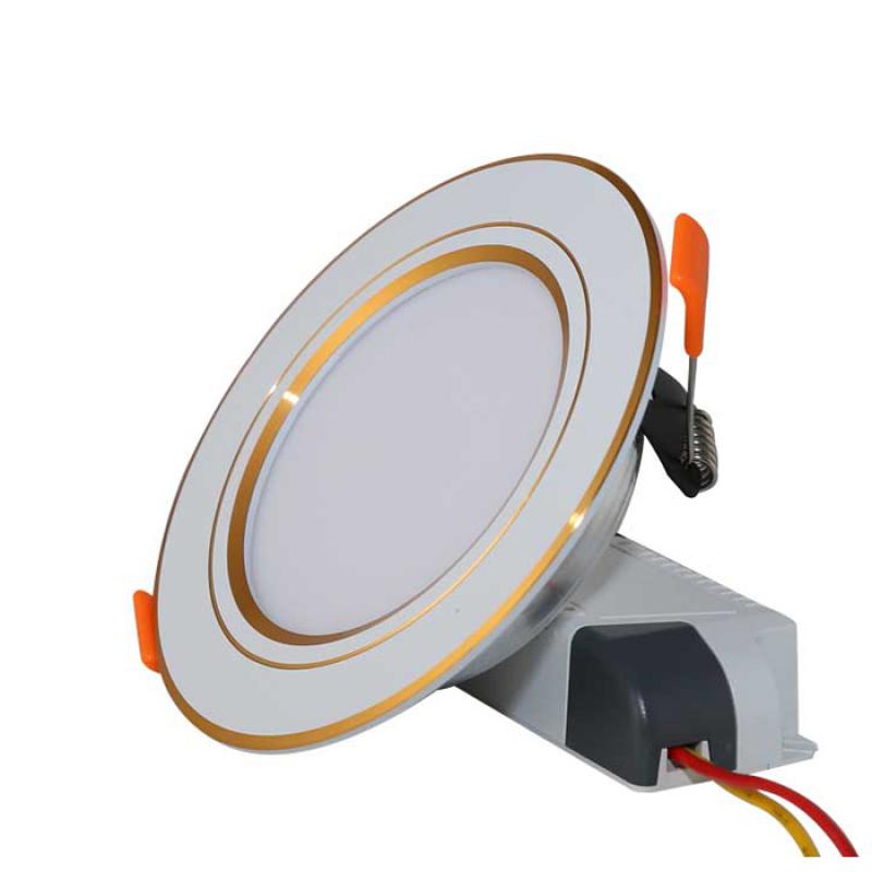 Đèn Downlight Led âm trần 💡 Đèn Rạng Đông D AT10L 90/7W, 110/9W, VIền Vàng, Viền Bạc, lỗ khoét trần 90mm và 110mm