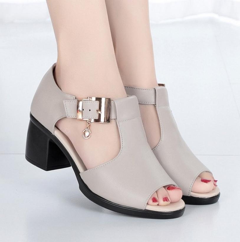 Giày sandal nữ cao gót Phong Cách Hàn Quốc S115 giá rẻ