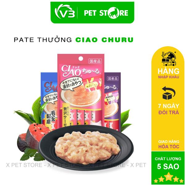 Súp Ciao Churu, Súp Thưởng Cho Mèo, Gói 4 Thanh
