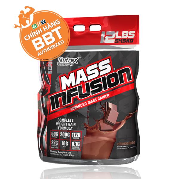 Nutrex Mass Infusion 5,45 kg - Sữa tăng cân cho người gầy nhập khẩu