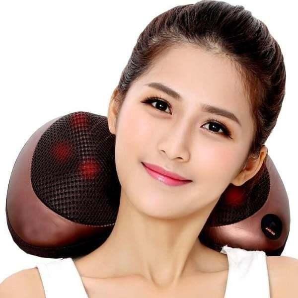 Gối massa hồng ngoạị 8 bi massage xoay chiều Lưu thông khí huyết (shop)-BBVL