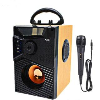 Loa Công Suất Lớn, Loa A300 Hozito Cao Cấp Version 2020 TẶNG MIC HÁT, Loa Hat Karaoke Bluetooth Cầm Tay Kèm Bóp xốp. thumbnail