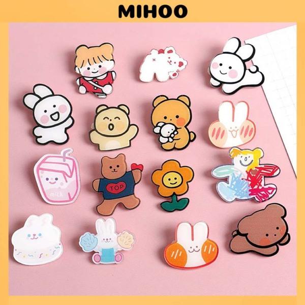 Phụ kiện sticker cài gim trang trí balo túi ví xinh xắn dễ thương MIHOO ST00