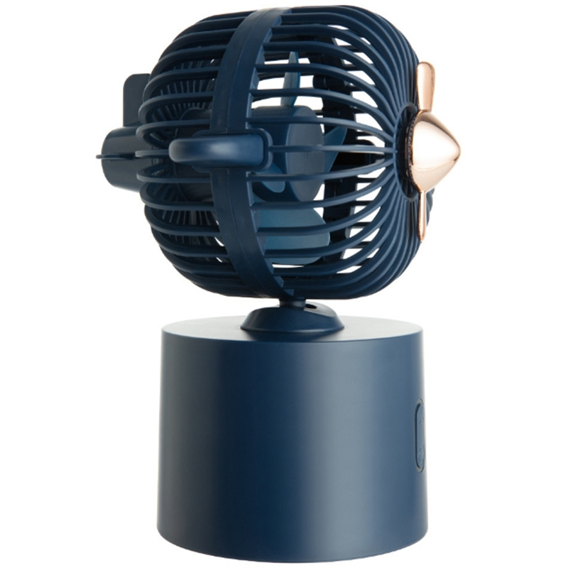 Bảng giá Portable Mini Fan Shaking Head Desktop USB Rechargeable Fan with 2400MAh Battery for Home Office Phong Vũ