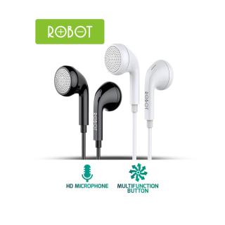 [Bảo Hành 12 Tháng] Tai nghe có dây ROBOT RE601 nghe nhạc đàm thoại âm thanh trung thực tương thích với điện thoại Samsung Oppo Xiaomi Huawei iphone - Hàng Chính Hãng thumbnail