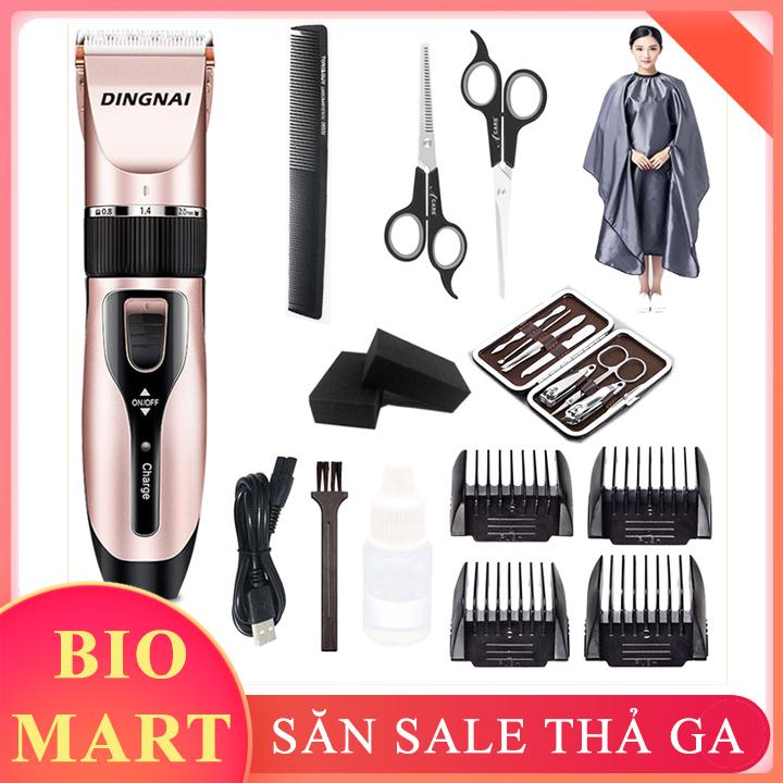 [ TẶNG KÈM 10 MÓN  ] Bộ Tông Đơ Cắt Tóc Dingnai - Tông Đơ Cắt Tóc Gia Đình – BIO28 giá rẻ