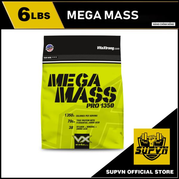 Sữa tăng cân nhanh dành cho người gầy Mega Mass Extreme 1350 6lbs VitaXtrong cao cấp