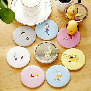 Gương trang điểm mini siêu cute cầm tay bỏ túi Hàn Quốc tiện lợi viền kim loại Giao mẫu ngẫu nhiên thumbnail