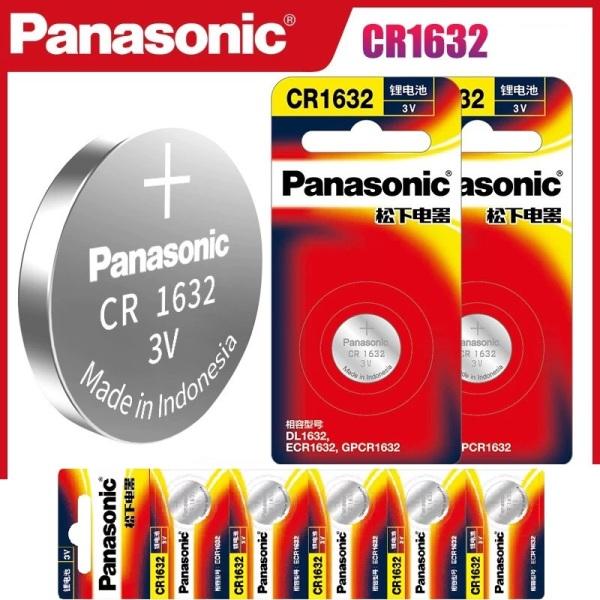 Pin Panasonic CR1632, pin cảm biến áp suất lốp, chìa khóa ô tô .., 3V Lithium Made in Indonesia