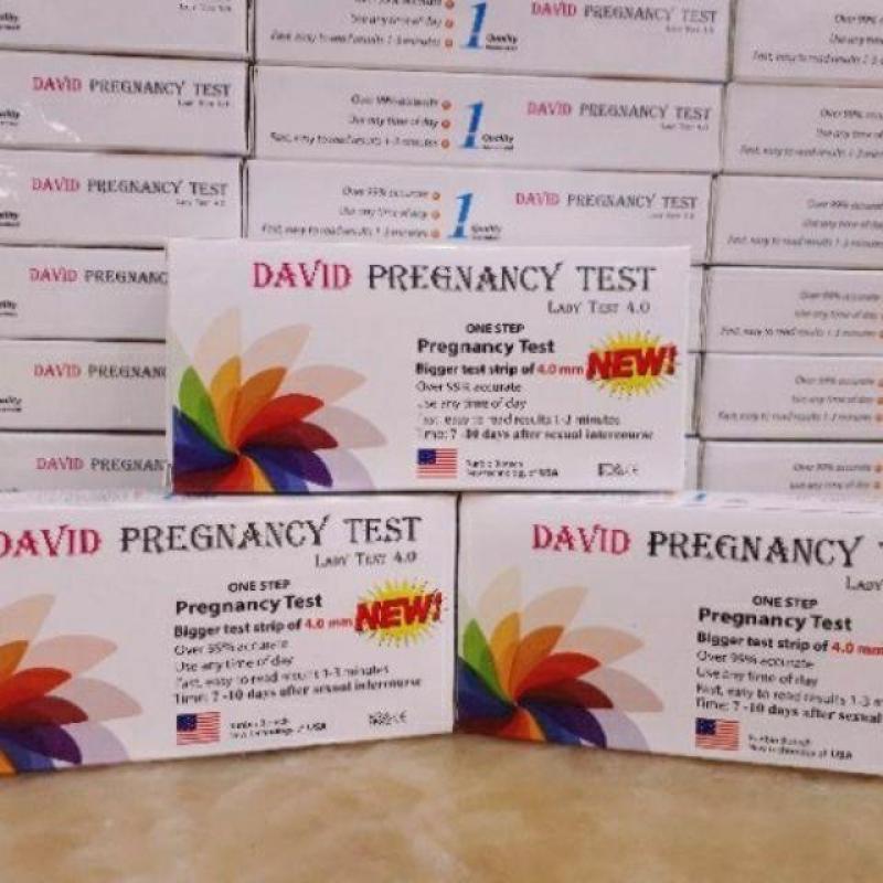 Bộ 10 Que thử thai David prenancy test ( che tên sp khi giao hàng)
