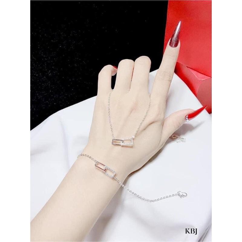 Lắc chân lắc tay nữ bạc ta mẫu xích vuông lồng hot trend- JQN gian hàng chính hãng cam kết bạc chuẩn, chất lượng không lo đen xỉn