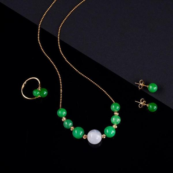 Mua Bộ trang sức ngọc phú quý Vaadoo tặng 01 bộ trang sức bạc đá tím cao cấp