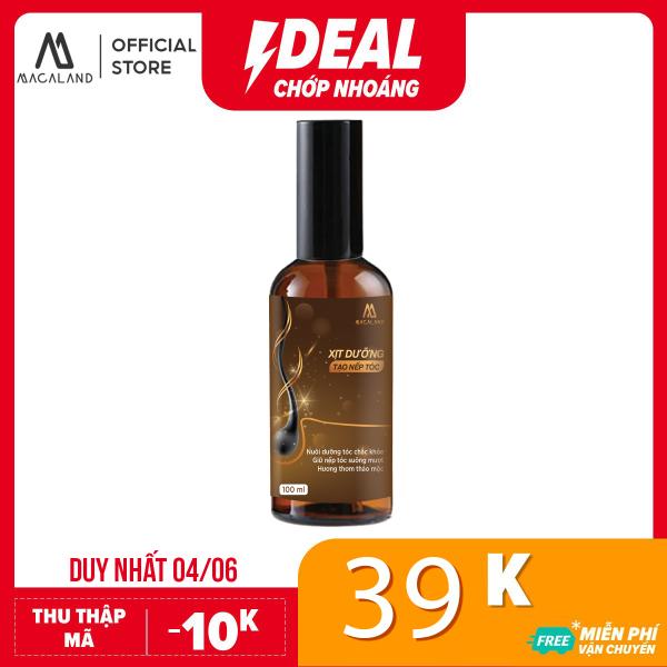 Xịt dưỡng tóc hương nước hoa hỗ trợ tạo nếp tóc 2in1 100ml MACALAND giá rẻ