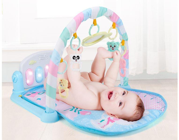 [ TẶNG MIỄN PHÍ 1 YẾM ] Thảm nằm chơi nhạc cho bé mẫu con hươu ( hình thật khách gửi tặng ) Nhật Bản