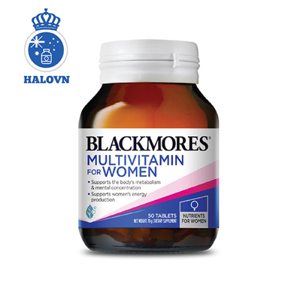 Blackmores Womens Vitality Multi 50v - Vitamin tổng hợp dành cho phụ nữ, tăng cường sức đề kháng toàn diện Blackmore Úc - Haloco NV