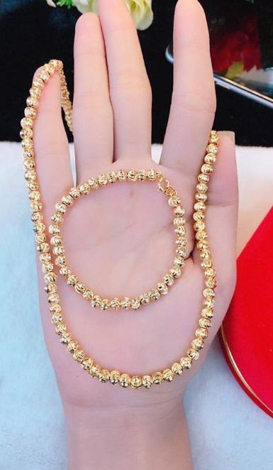 Dây chuyền bi mạ vàng cao cấp - không kèm lắc