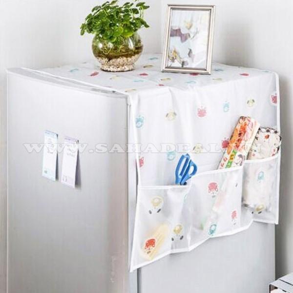 Tấm Phủ Tủ Lạnh Chống Thấm Nước, Đựng Đồ Tiện Dụng (SP001419 )