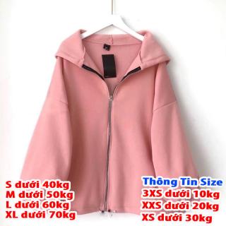 áo khoác nữ form rộng đi học, áo hoodie nữ form rộng có dây kéo tay cánh dơi thumbnail