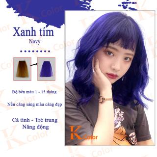 Thuốc nhuộm tóc màu XANH TÍM THAN NAVY kcolor thumbnail