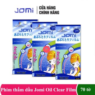 Combo 3 gói giấy thấm dầu ngăn ngừa mụn jomi oil clear film - 70 tờ, cam kết sản phẩm đúng mô tả, chất lượng đảm bảo an toàn đến sức khỏe người sử dụng thumbnail